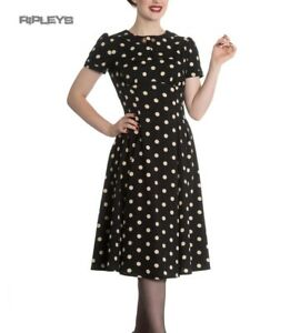 Hell-Bunny-Vintage-Pin-Up-Rockabilly-40s-50s-Black-MADDEN-Polka-Dot-All-Sizes