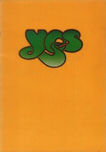 YES 1974 AMERICAN WINTER RELAYER TOUR PROGRAM BOOK BOOKLET / JON ANDERSON / NMT