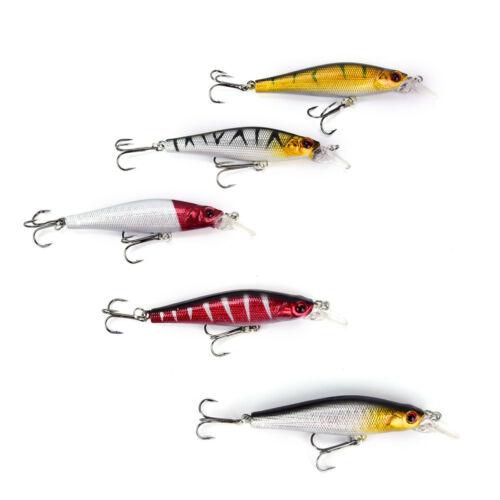 5x//Set Kunststoff Fischköder Floating Rattles Bass Wobbler 8.5 cm//8.9 g Gut 4H