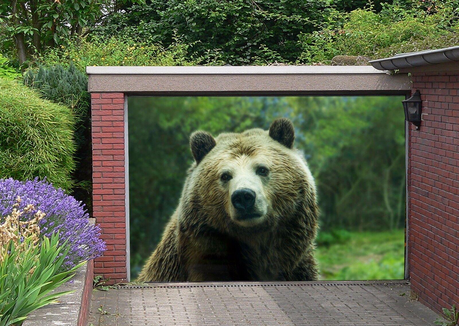 3D 3D 3D Cute Bear 53 Garage Door Murals Wall Print Decal Wall AJ WALLPAPER AU Lemon 301502