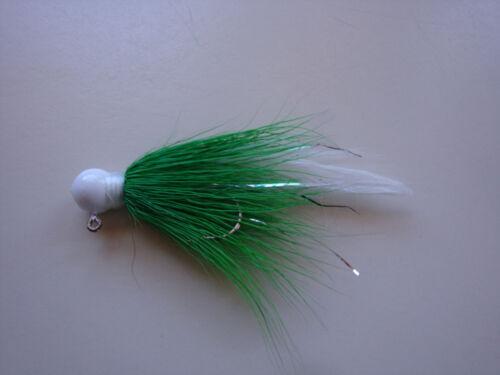 SALE!4 CUSTOM HANDTIED DEER HAIR FISHING JIGS 1//16 1//8 1//4oz Trout,crappie,bass