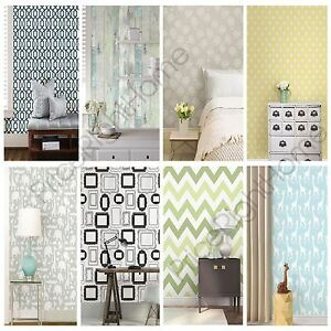 PEEL & STICK WALLPAPERS BEDROOM WALL DECOR VARIOUS DESIGNS NEW FREE ...