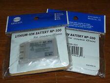 Lot of 2 Genuine Minolta NP-500/NP-600 Battery-DiMAGE G400 G500 G530 G600 DR-LB4
