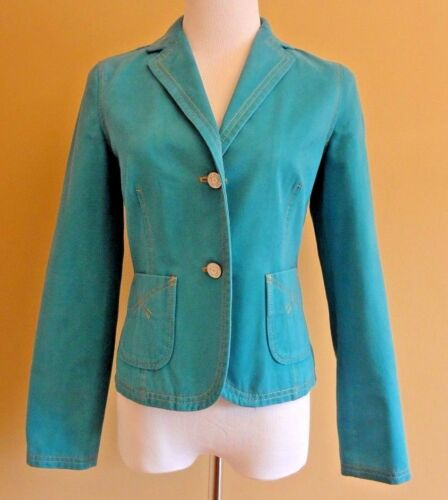 Cotton Fit In 100 Tailored Blazer Gap Turquoise Women's 2 Size nt4gqYw6nv