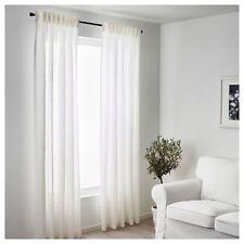 Ikea Linen Curtains Living Room Bedroom Window Sheer Blinds 250x145cm White
