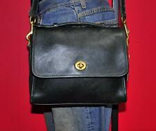 "Vtg COACH ""Court"" Small Green Leather Satchel Cross-Body Messenger Purse Bag USA"