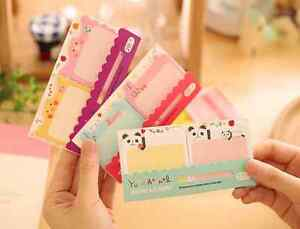Cute Panda Bird Bear Rabbit Memo Adhesive sticky notes school kids index