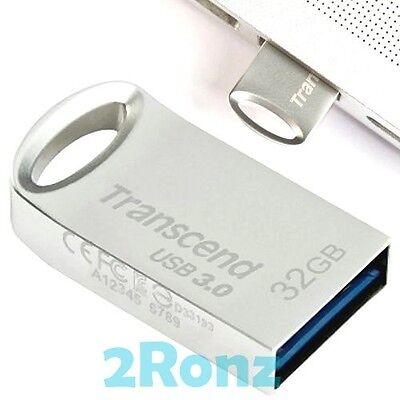 TRANSCEND JF710S 32GB 32G USB 3.0 Flash Pen Drive Disk Metal JetFlash 710 Silver