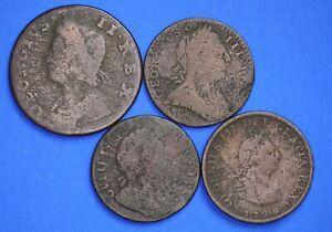Wiiliam-III-George-II-III-coin-collection-lower-grade-halfpenny-farthing-20124