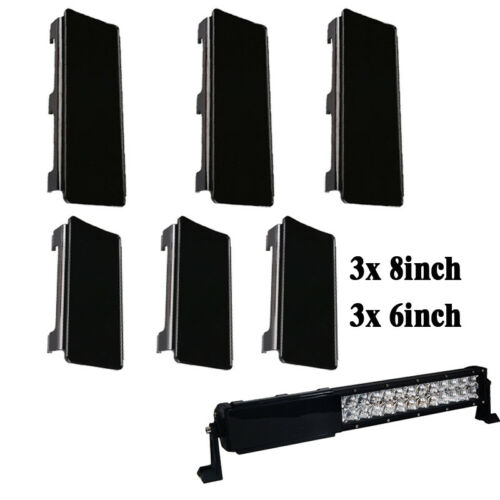 """3x 6/"""" Set for LED Light Bar Offroad SUV 42inch Protective Cover Black 3x 8/'/'"""