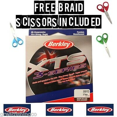 berkley fishing line berkley mono  300yd fishing Line + Free Braid Scissors