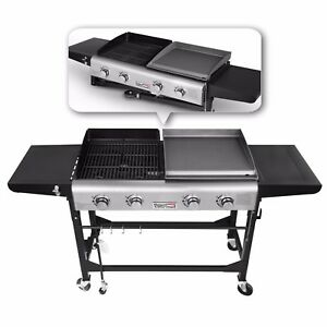 6359e4d0d69 Royal Gourmet BBQ 4 Burner Gas Propane Grill Griddle Combo Camping ...