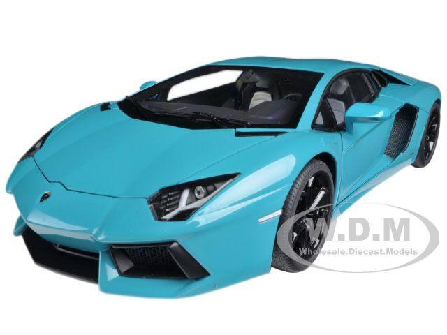 buen precio Lamborghini Aventador Lp700-4 Turquesa  Diecast Model Model Model Car By Autoart 74667  online barato