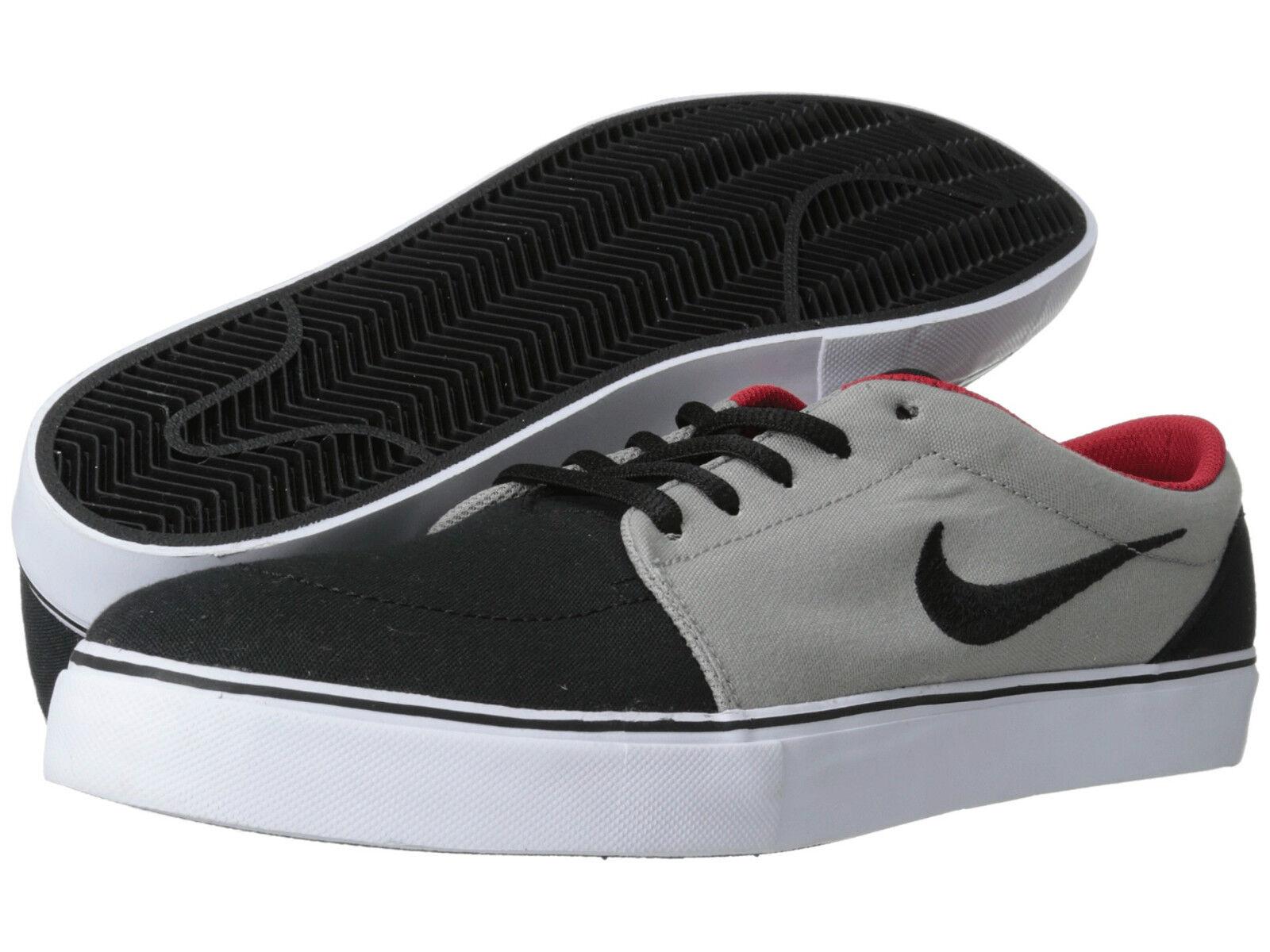 New Men's Nike SB Satire Canvas-  Grey University Red White Black - Size 13