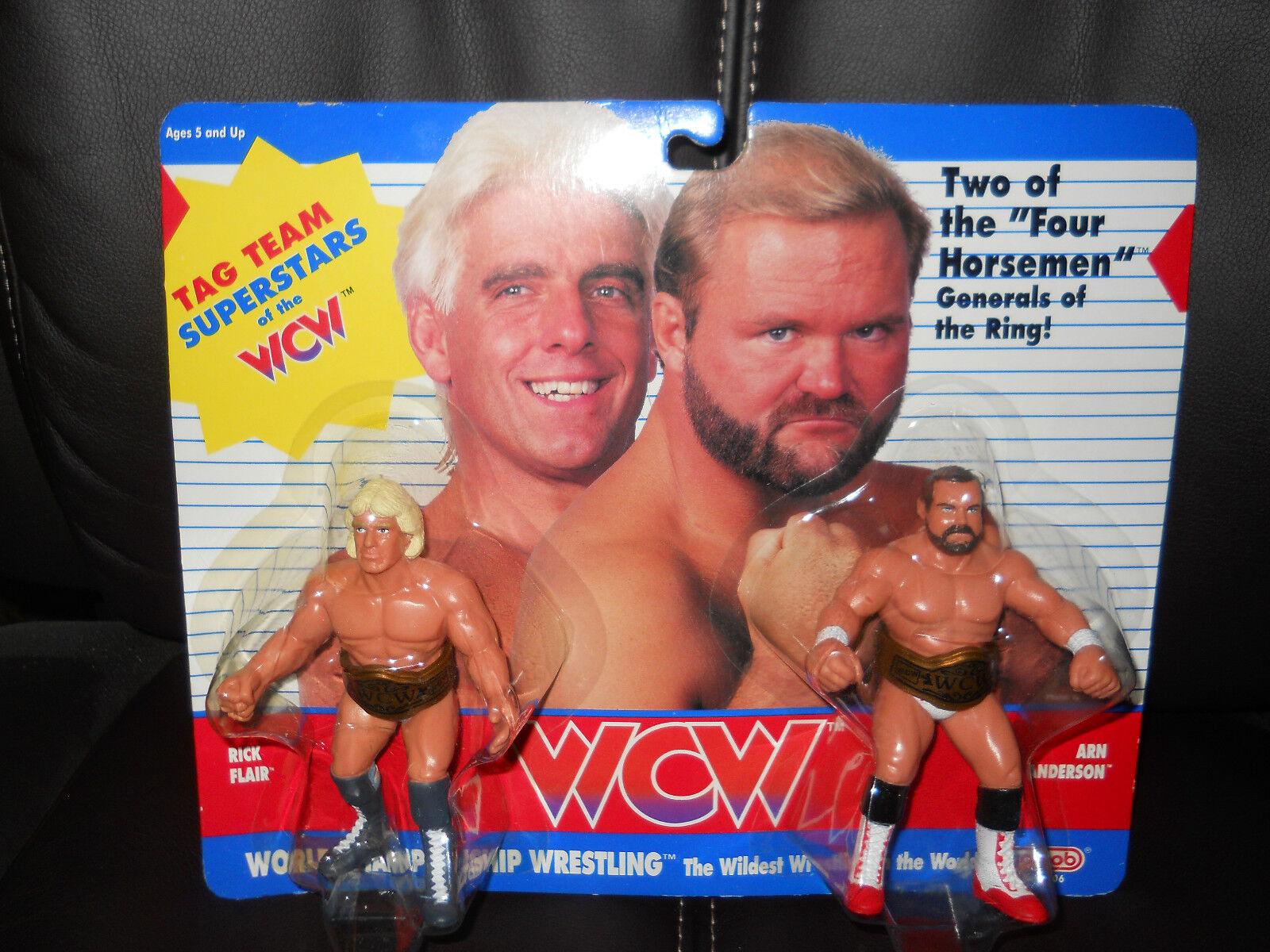 GALOOB WCW/wwf/nwa RIC FLAIR/ARN ANDERSON figure,moc