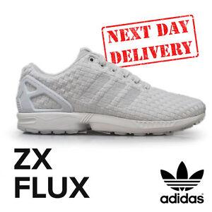 quality design 1e50d a3e3f ... wholesale la imagen se está cargando adidas zx flux woven retro blanco  tenis zapatillas 83edd 8fc56