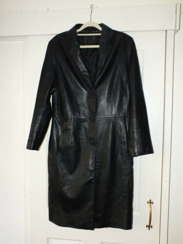 Nuage 12 Long Uk Black ægte jakke hos Debenhams lædercoat SPqST41an