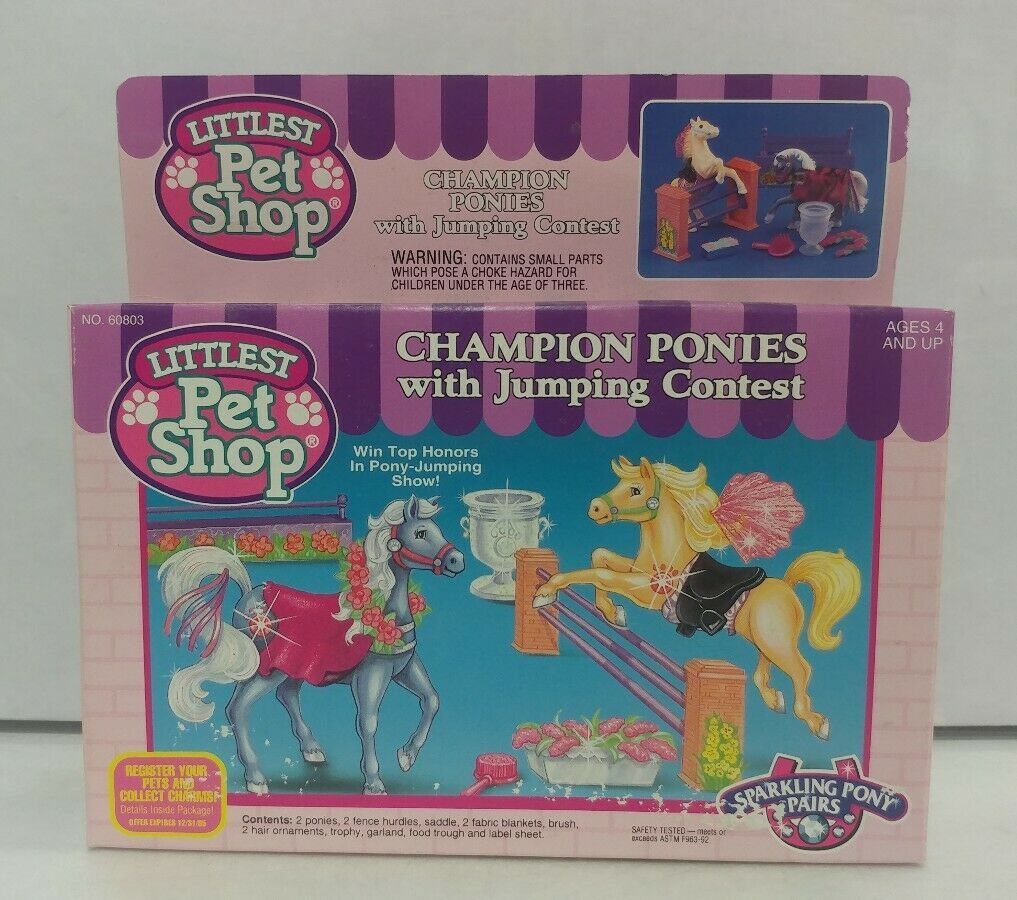 Ministre Pet Shop Champion Ponies w   Jumping contest Sparking Pony 1994 Kenner