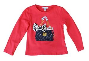 NWT-Petit-Lem-Girls-039-Purse-Applique-Top-in-Red-Sizes-2-3-4-5-6