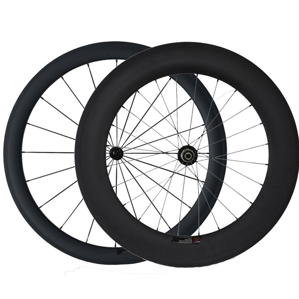 700C 50mm+88mm Tubular Tubular Tubular Road Bike Carbon Wheels Bicycle Ultra Light Wheelset 382581
