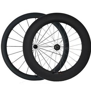 700C-1420g-3K-Carbone-Fahrrad-Rad-Schlauchreifen-50mm-88mm-Fahrrad-Laufradsatz