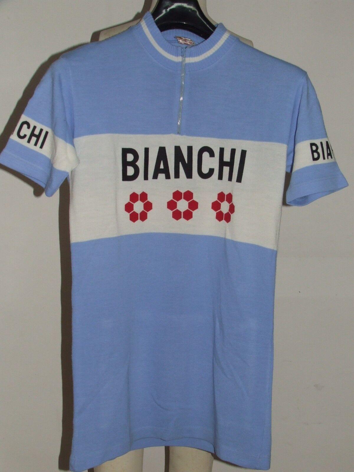 MAGLIA BICI SHIRT SHIRT BICI CICLISMO EROICA VINTAGE 70'S BIANCHI magl. REGINA ACRILICO 298185