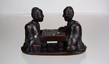 19th Century Japanese Cherry Wood Netsuke: Men Playing Go
