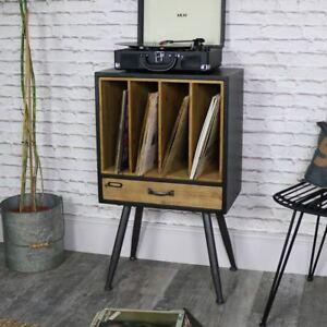 Klassisch Retro Vintage Vinyl Lp Akten Schrank Rustikale Schick
