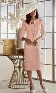 plus sz 20W Diahann Jacket Dress Apricot Lace church wedding party Ashro new