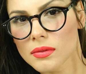 Fashion Eyeglasses Thick Round Circle Keyhole Clear Lens Frame