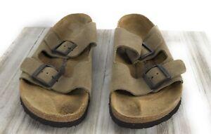 c1260760b457b8 Newalk by Birkenstock Women s 11 Arizona Suede Tan Taupe Sandals