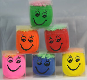 2,4 OR 6-6cm Moody Squeeze Stretchy Faces Stress Ball Novelty Party Goody Filler