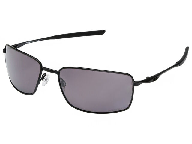 4103a0d86 Oakley Square Wire Oo4075 9 Black Sport Sunglasses Brown Polarized 60 Mm  Lenses