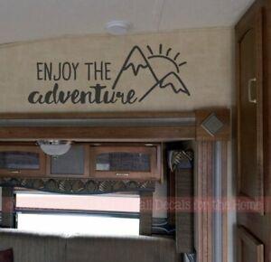 Camper-Vinyl-Art-Stickers-Enjoy-The-Adventure-Sunrise-Motorhome-Decal-Stickers