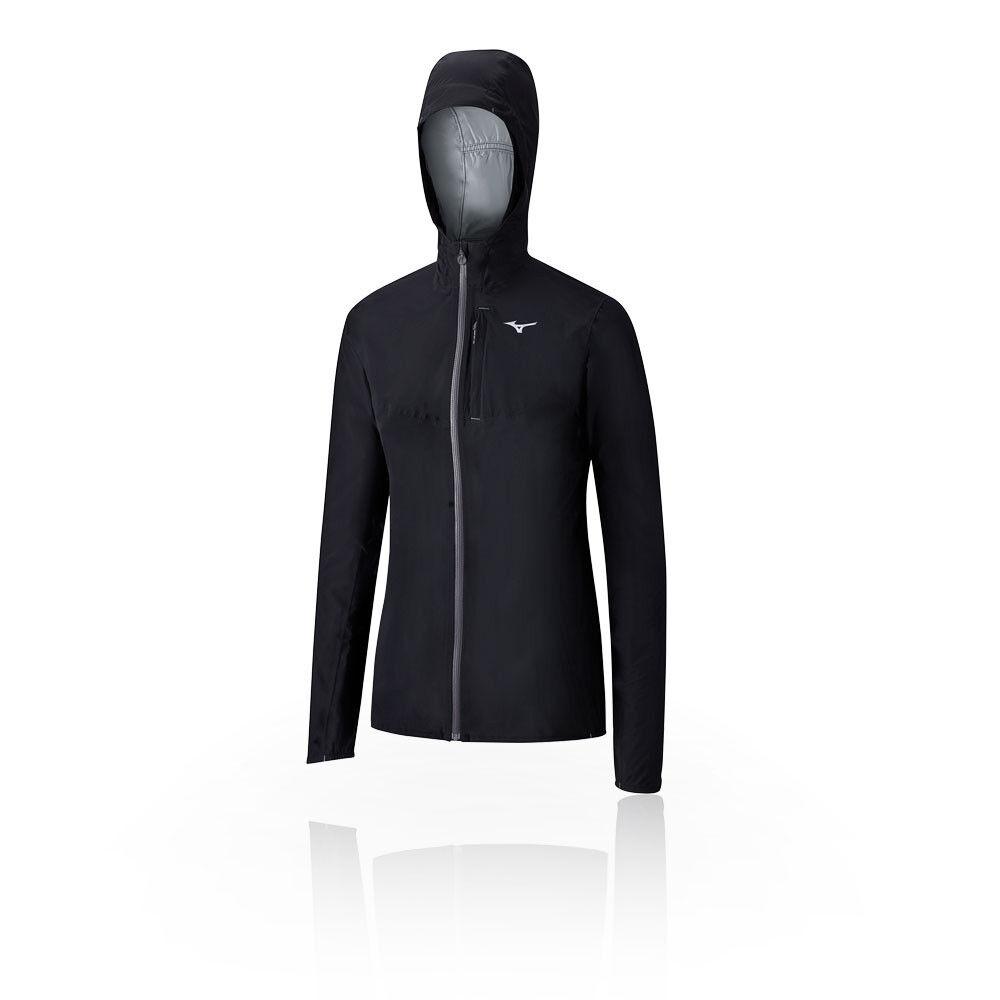 20K Trail  Corriendo Mizuno Para Mujer Endura Chaqueta Top Negro Deportes Full Zip Hooded  ventas calientes