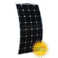 For 12v Cabin Boat Marine Battery 100w Semi Flexible Class-a Solar Panel Rv