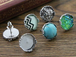 12mm-Stainless-Steel-Earring-Studs-12mm-Cabchon-Setting-Crown-Detail-20pcs