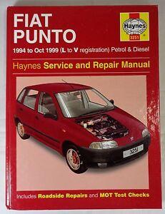 haynes fiat punto p d 1994 to oct 1999 car owners workshop rh ebay co uk 2016 Fiat Punto Fiat 500L