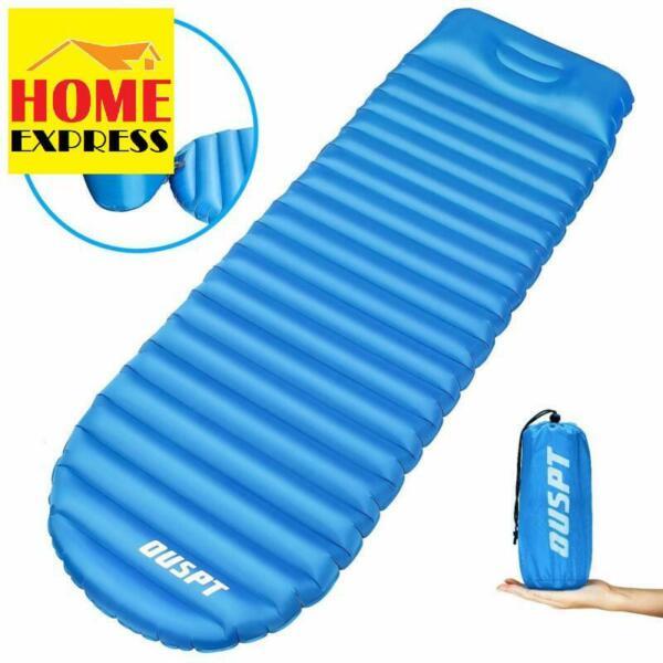 Instancabile Ouspt Gonfiabile Materassino A Pelo, Campeggio Gonfiabile Dormire Pad Materasso Da Campeggio U Asciugare Senza Stirare