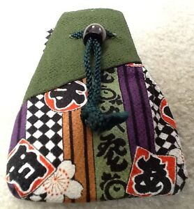 NEW Vtg Japanese HANDMADE Phone Case / Glasses Case / Coin Purse / Makeup Pouch