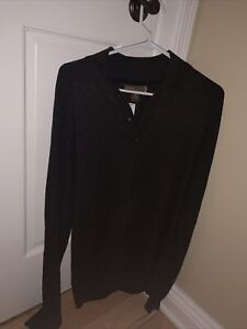 Mens-Warehouse-Pronto-Uomo-Blue-XL-X-Large-Brown-Sweater-Cotton-Acrylic-MSRP-99