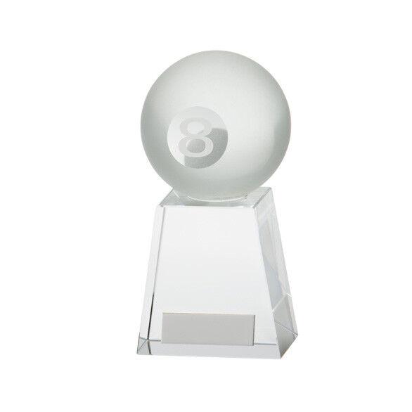 VOYAGER boule de billard Trophée luxe cristal gratuite GRAVURE meilleure vente vente meilleure ffcc08