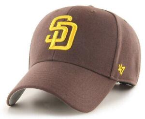 SAN DIEGO PADRES MLB MVP BROWN ADJUSTABLE STRAPBACK HAT CAP NEW! '47 BRAND