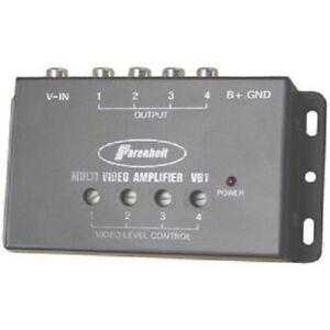 Power-Acoustik-VB1-Video-Amplifier-Power-1-Input-4-Outputs-Signal-Booster