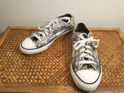 Converse All Star ox sequin Glitter silver Mens Si