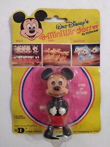 Mickey Mouse Wind Up Toy 1977 Durham Mini Winder Vintage Walt Disney Figure