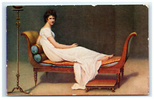 Postcard-Portrait-of-Madame-Recamier-Published-by-Continental-Art-Co-Chicago-C17