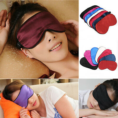 100% Pure Silk Soft Sleeping Eye Mask Eyeshade Cover Travel Relax Aid Blindfold