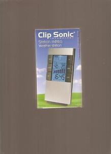 STATION-METEO-CLIP-SONIC-Thermometre-Hygrometre-Previsions-Etc-NEUVE