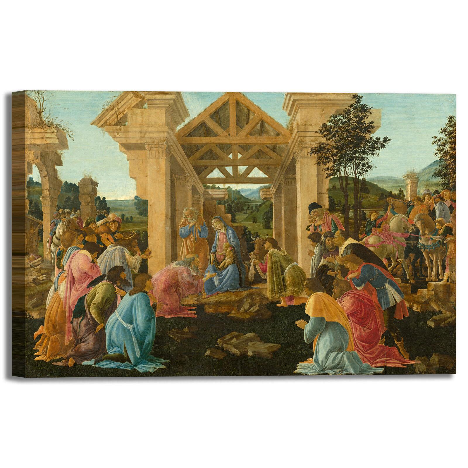 Botticelli adorazione dei magi II quadro stampa tela dipinto telaio arroto casa